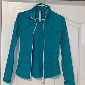 Jackets & Blazers - Turquoise triple flip athletic jacket